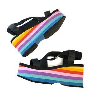 Rocket Dog Rainbow Wedge Strappy Sandals - Size 7